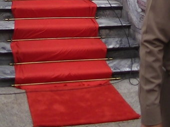 Red Carpet Down Stairway