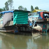 Solo Travel Cambodia Mekong Working Boats